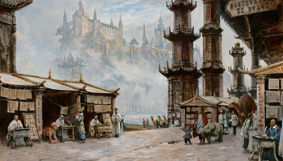 """Marketplace of Ideas"" by James Gurney"